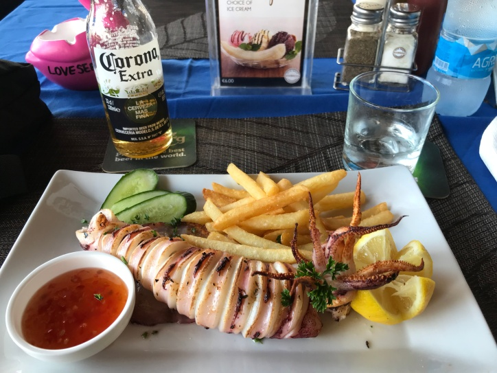 Yummy Grilled Calamari with Chips