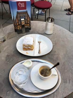 Afternoon Espresso and Apple Strudel